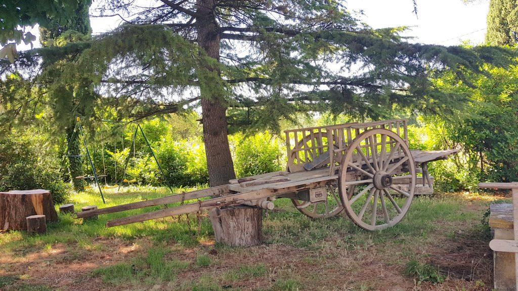 La charrette dans le parc